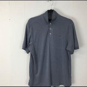 Men's Tommy Bahama Grey Polo Shirt Size Medium